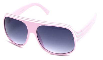 Angle of SW Celebrity Style #1961 in Light Pink and White Frame, Women's and Men's