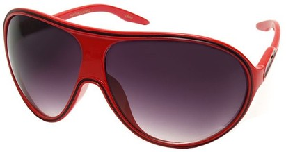 Angle of SW Kid's Celebrity Style #1353 in Red and Black Frame, Women's and Men's