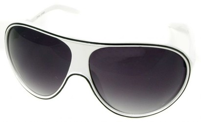 Angle of SW Kid's Celebrity Style #1353 in White and Black Frame, Women's and Men's
