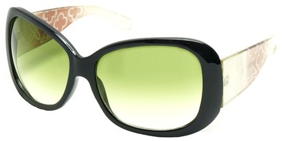 Angle of SW Laser Cut Style #8737 in Black and Green Frame, Women's and Men's