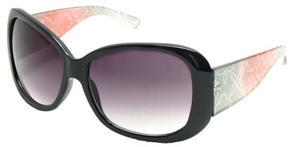 Angle of SW Laser Cut Style #8737 in Black and Pink Frame, Women's and Men's