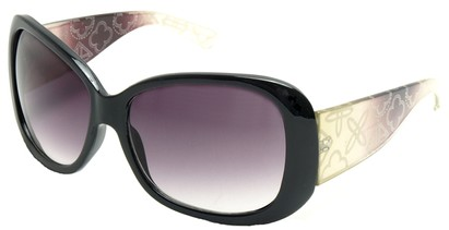 Angle of SW Laser Cut Style #8737 in Black and Purple Frame, Women's and Men's