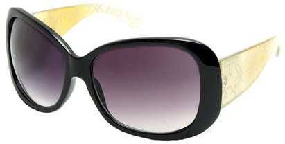 Angle of SW Laser Cut Style #8737 in Black and Yellow Frame, Women's and Men's