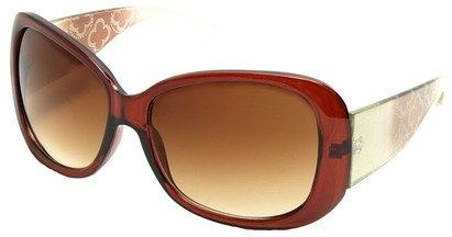 Angle of SW Laser Cut Style #8737 in Brown Frame, Women's and Men's