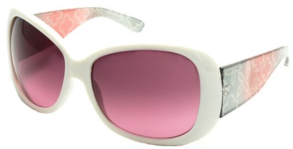 Angle of SW Laser Cut Style #8737 in White and Pink Frame, Women's and Men's