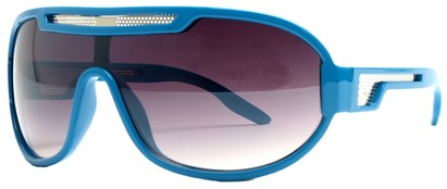 Angle of SW Neon Retro Style #8792 in Blue Frame, Women's and Men's
