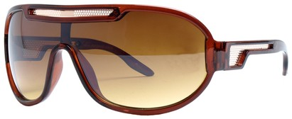 Angle of SW Neon Retro Style #8792 in Brown Frame, Women's and Men's