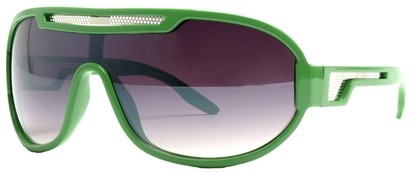 Angle of SW Neon Retro Style #8792 in Dark Green Frame, Women's and Men's