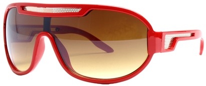 Angle of SW Neon Retro Style #8792 in Red Frame, Women's and Men's