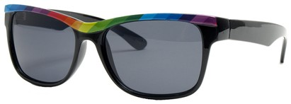 Angle of SW Retro Rainbow Style #8823 in Black Frame, Women's and Men's