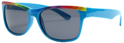 Angle of SW Retro Rainbow Style #8823 in Blue Frame, Women's and Men's