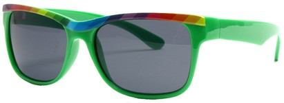 Angle of SW Retro Rainbow Style #8823 in Green Frame, Women's and Men's