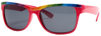 Angle of SW Retro Rainbow Style #8823 in Pink Frame, Women's and Men's