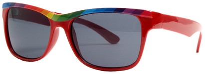 Angle of SW Retro Rainbow Style #8823 in Red Frame, Women's and Men's