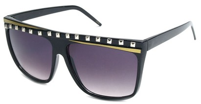 Angle of SW Rock Star Style #5020 in Black and Gold Frame, Women's and Men's