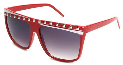 Angle of SW Rock Star Style #5020 in Red and White Frame, Women's and Men's