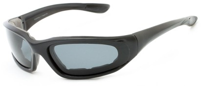Angle of Manzano #4700 in Black Frame with Smoke Lenses, Men's Sport & Wrap-Around Sunglasses