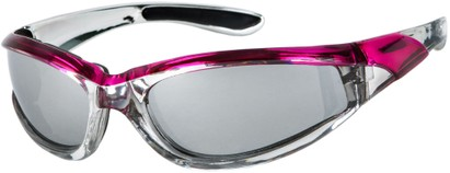 Angle of Fresco #1889 in Silver/Pink Frame, Women's and Men's Sport & Wrap-Around Sunglasses