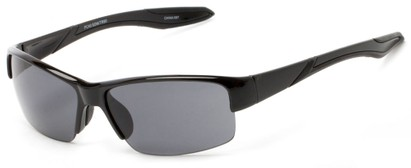 Angle of Mountaineer #4040 in Black Frame with Grey Lenses, Women's and Men's Sport & Wrap-Around Sunglasses