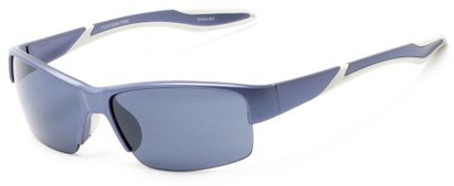 Angle of Mountaineer #4040 in Matte Purple Frame with Grey Lenses, Women's and Men's Sport & Wrap-Around Sunglasses