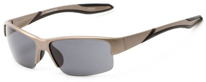 Angle of Mountaineer #4040 in Matte Tan Frame with Grey Lenses, Women's and Men's Sport & Wrap-Around Sunglasses