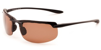 Angle of Motor #5212 in Matte Black with Copper Driving Lenses, Men's Sport & Wrap-Around Sunglasses