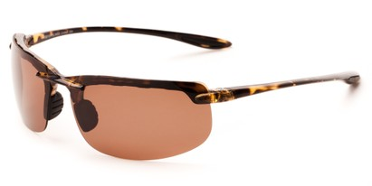Angle of Motor #5212 in Tortoise Frame with Copper Driving Lenses, Men's Sport & Wrap-Around Sunglasses