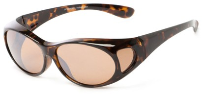 Angle of Mackinac #7009 in Tortoise Frame with Copper Lenses, Women's and Men's Round Sunglasses