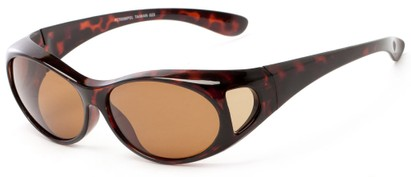 Angle of Roanoke #7096 in Tortoise Frame with Amber Lenses, Women's and Men's Round Sunglasses