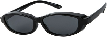Angle of Nile #4820 in Black Frame with Grey Lenses, Women's and Men's Square Sunglasses