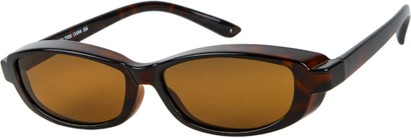 Angle of Nile #4820 in Tortoise Frame with Amber Lenses, Women's and Men's Square Sunglasses
