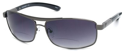 Angle of Alfresco #3324 in Grey, Women's Aviator Reading Sunglasses