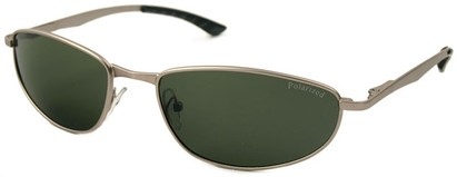Angle of SW Polarized Style #5132 in Silver Frame with Green Lenses, Women's and Men's
