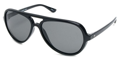 Angle of SW Polarized Style #9634 in Black Frame, Women's and Men's