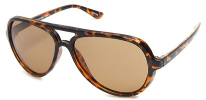 Angle of SW Polarized Style #9634 in Tortoise Frame, Women's and Men's
