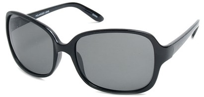 Angle of SW Polarized Style #497 in Black Frame, Women's and Men's