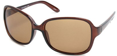 Angle of SW Polarized Style #497 in Brown Frame, Women's and Men's