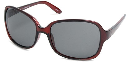 Angle of SW Polarized Style #497 in Red Frame, Women's and Men's