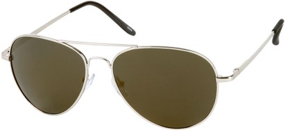 Angle of Desert in Silver Frame with Grey Mirrored Lenses, Women's and Men's Aviator Sunglasses