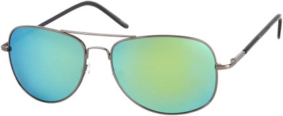 Angle of SW Polarized Mirrored Aviator Style #68 in Grey Frame with Blue/Yellow Mirrored Lenses, Women's and Men's