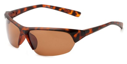 Angle of Ozark #2112 in Matte Tortoise Frame with Amber Lenses, Women's and Men's Sport & Wrap-Around Sunglasses