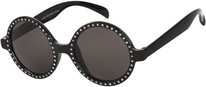 Angle of SW Celebrity Round Style #132 in Black Frame, Women's and Men's