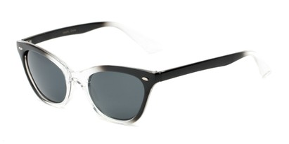 Angle of Paris #2265 in Black/Clear Fade Frame, Women's Cat Eye Sunglasses