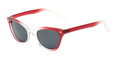 Angle of Paris #2265 in Red/Clear Fade Frame, Women's Cat Eye Sunglasses