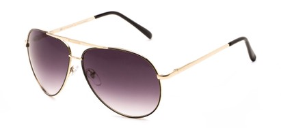 Angle of Phoenix #233 in Gold Frame with Smoke Lenses, Women's and Men's Aviator Sunglasses