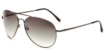 Angle of Pier #1255 in Grey Frame with Green Lenses, Women's and Men's Aviator Sunglasses