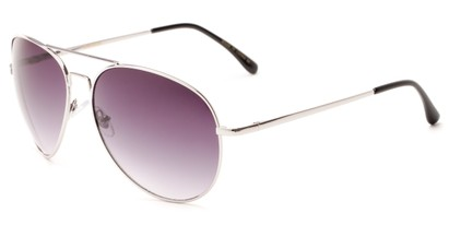 Angle of Pier #1255 in Silver Frame with Smoke Lenses, Women's and Men's Aviator Sunglasses