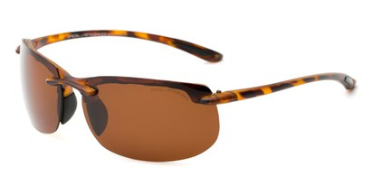 Angle of Pipeline #1371 in Glossy Tortoise with Amber Lenses, Men's Sport & Wrap-Around Sunglasses