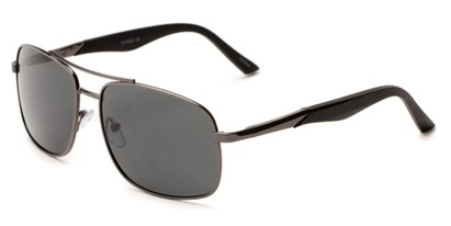Angle of Providence #1989 in Grey Frame with Grey Lenses, Men's Aviator Sunglasses