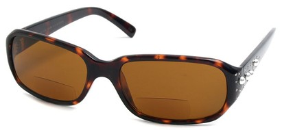 Angle of SW Rhinestone Bi-Focal Style #55278 in Tortoise, Women's and Men's